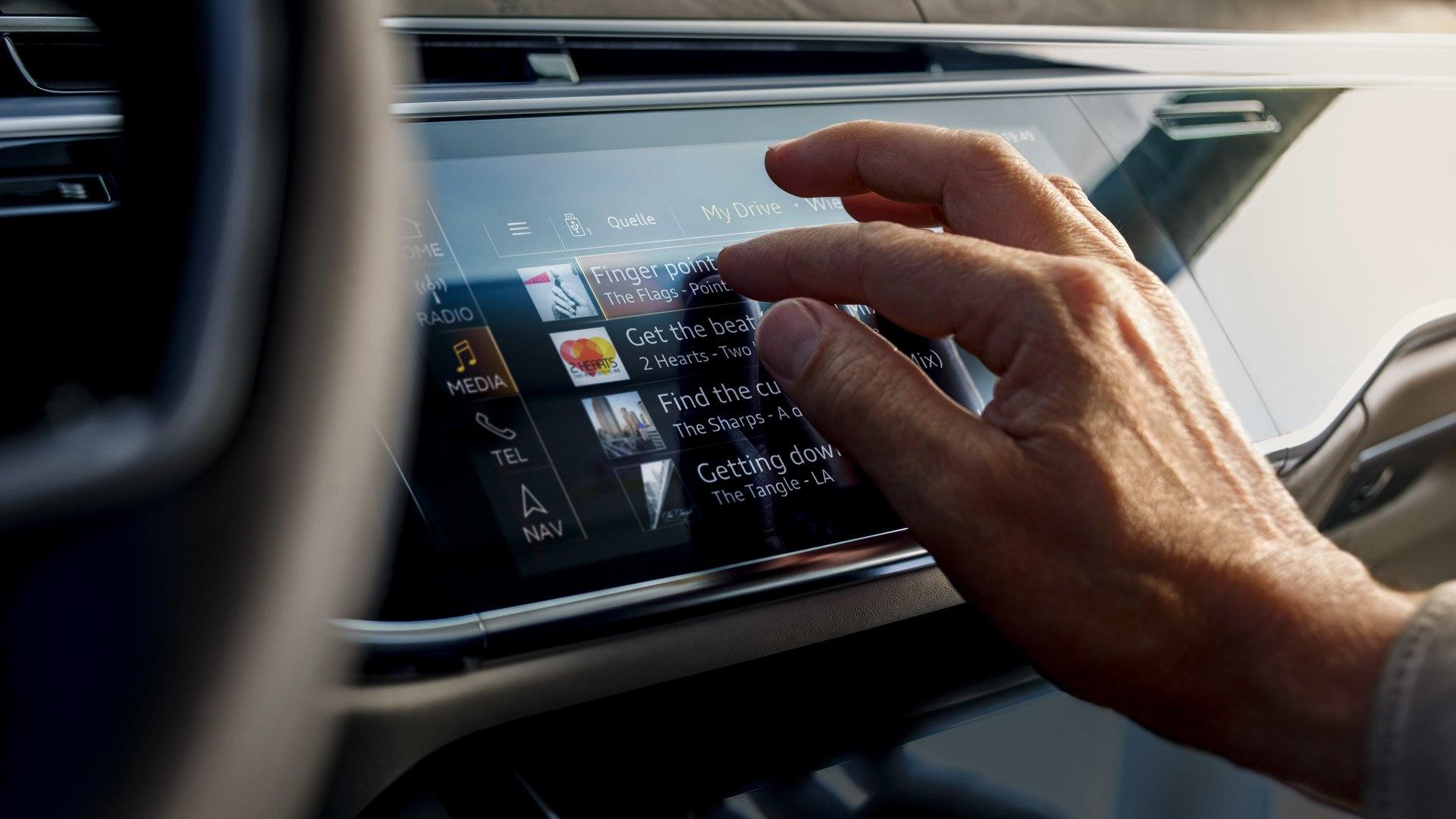 Audi A8 touchscreen