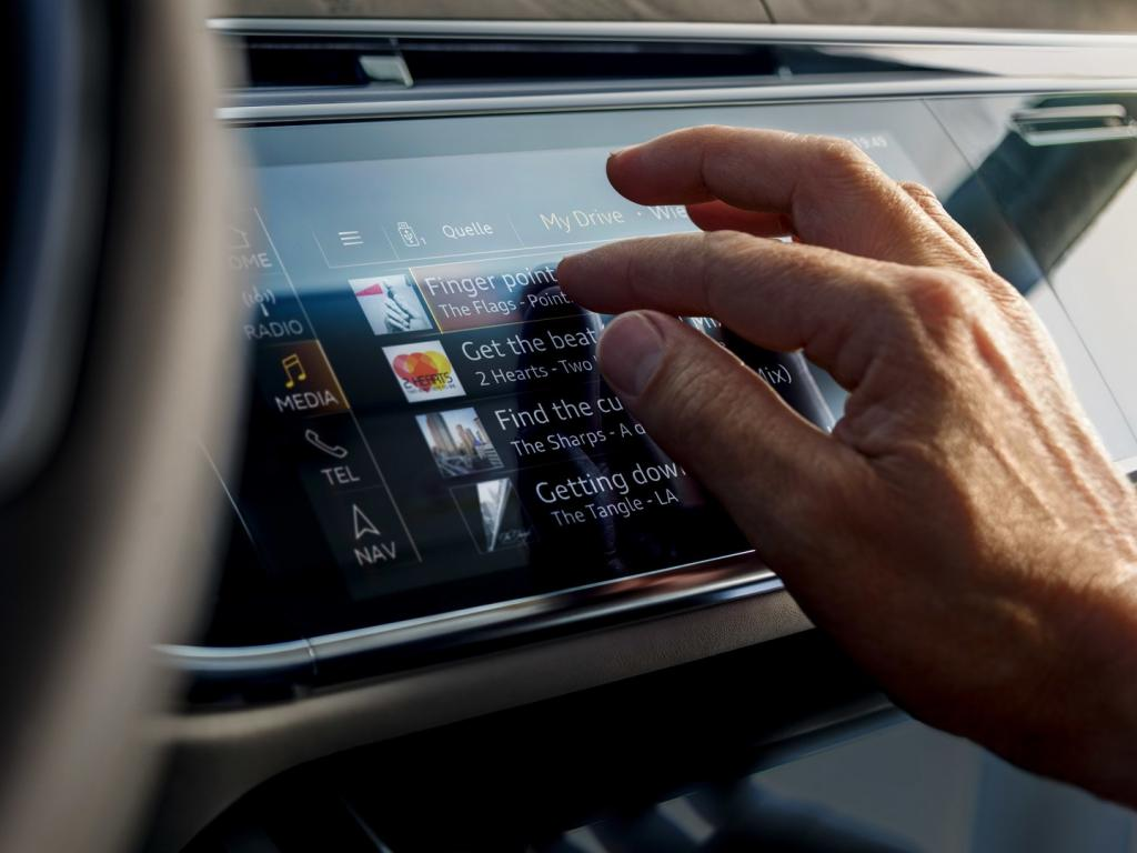 Audi A8 touchscreen